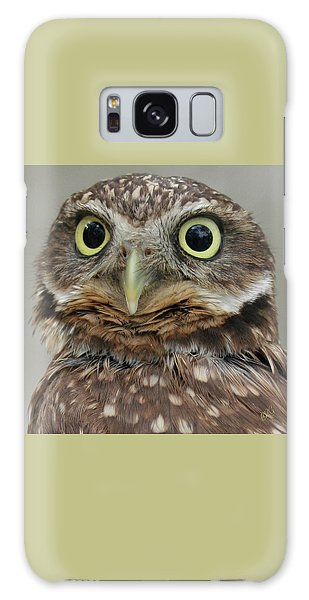 Portrait Of Burrowing Owl Galaxy Case by Ben and Raisa Gertsberg