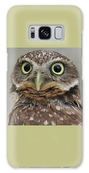 Portrait Of Burrowing Owl Galaxy Case by Ben and Raisa Gertsberg