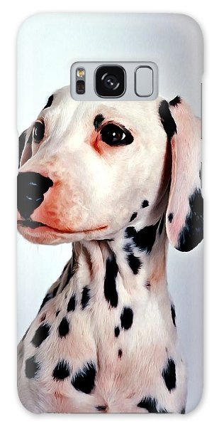 Portrait Of Dalmatian Dog Galaxy Case