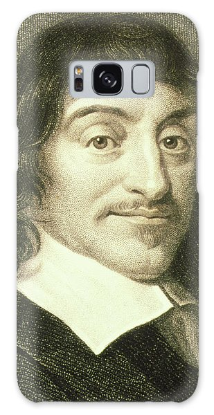 Philosopher Galaxy Case - Portrait Of French Mathematician Rene Descartes by George Bernard/science Photo Library