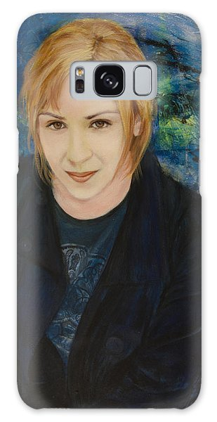 Portrait Of Katarzyna Magda Galaxy Case