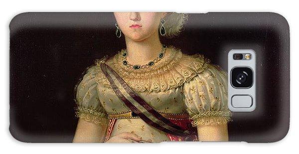Ostrich Galaxy Case - Portrait Of Maria Josephine Amalia Of Saxony by Francisco Lacoma