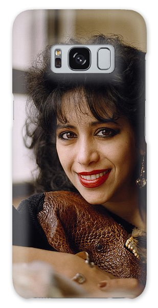 Portrait Of Ofra Haza Galaxy Case