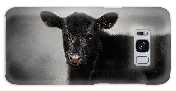 Portrait Of The Black Angus Calf Galaxy Case by Jai Johnson