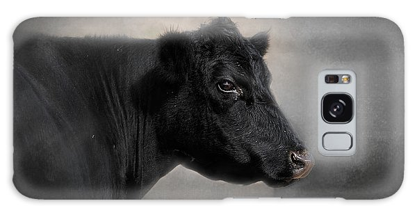 Portrait Of The Black Angus Galaxy Case by Jai Johnson