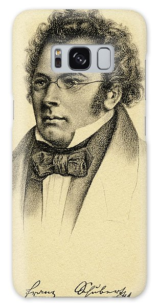 Schubert Galaxy Case - Portrait Of The Composer Franz Schubert by English School