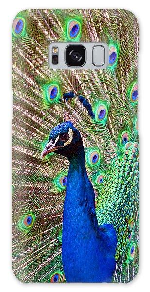 Portrait Peacock Galaxy Case