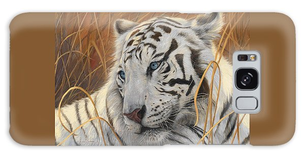 Portrait White Tiger 1 Galaxy Case