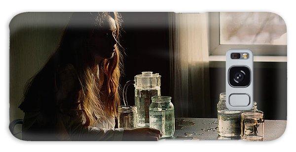 Young Galaxy Case - Portrait With Bottle by Kharinova Uliana