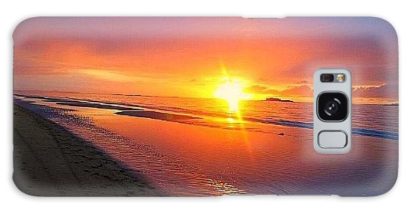 Portrush Sunset Galaxy Case by Tara Potts