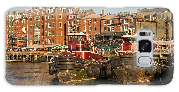 Portsmouth Harbor With Tugboats Galaxy Case