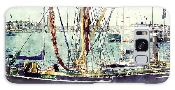 Portsmouth Harbour Boats Galaxy Case