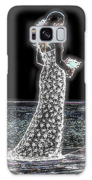 Posing Shyly Galaxy Case by Leticia Latocki