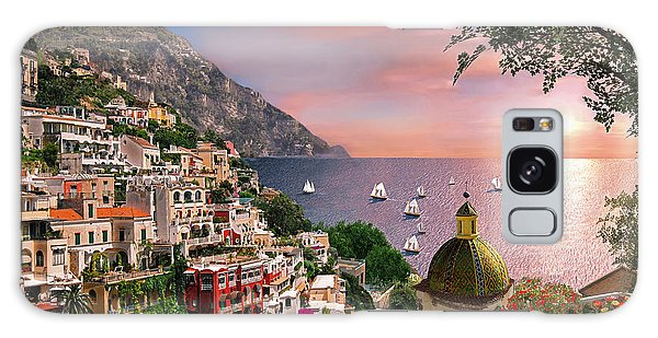 Positano Galaxy Case by Dominic Davison