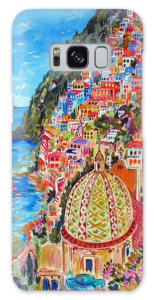 Positano Pearl Of The Amalfi Coast Galaxy Case by Roberto Gagliardi