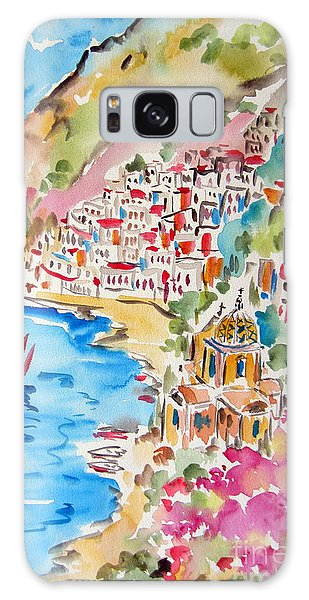 Positano Water Color Galaxy Case by Roberto Gagliardi