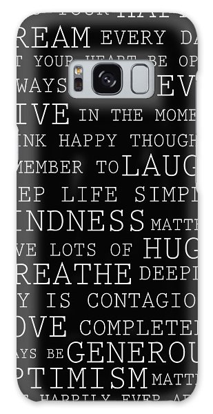 Positive Words Galaxy Case by P S