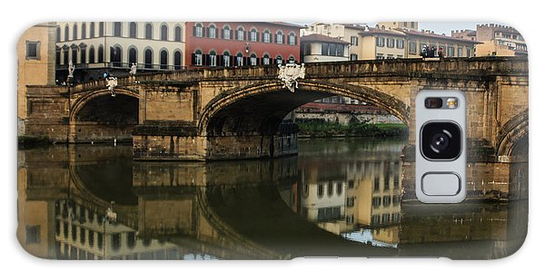 Postcard From Florence - Arno River And Ponte Santa Trinita  Galaxy Case