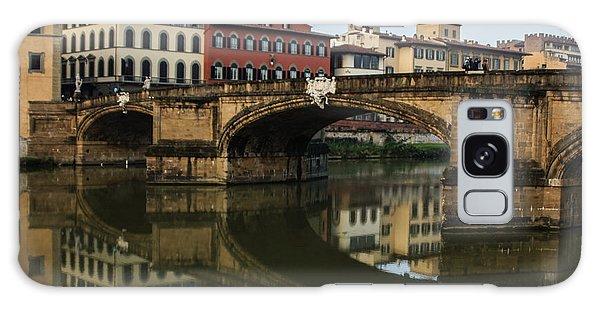 Postcard From Florence - Arno River And Ponte Santa Trinita  Galaxy Case