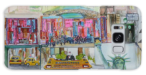Postcards From New York City Galaxy Case by Jack Diamond