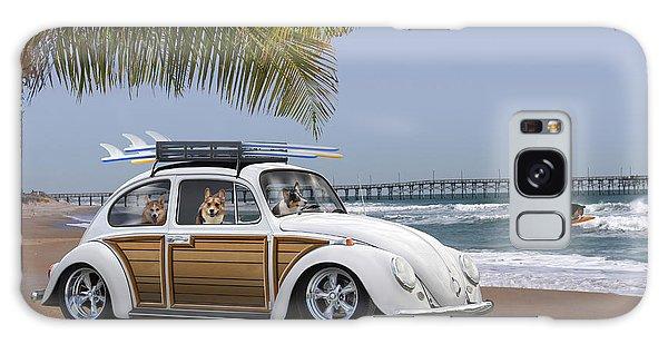 Volkswagen Galaxy Case - Postcards From Otis - Beach Corgis by Mike McGlothlen