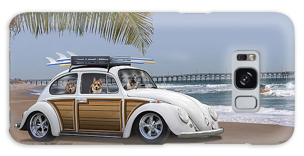 Postcards From Otis - Beach Corgis Galaxy Case