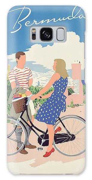 Bicycle Galaxy Case - Poster Advertising Bermuda by Adolph Treidler