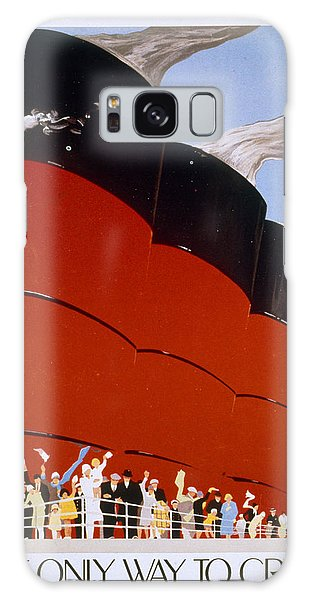 Vintage Galaxy Case - Poster Advertising The Rms Queen Mary by English School
