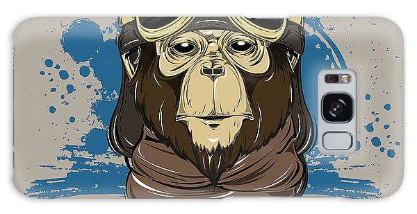 Scarf Galaxy Case - Poster With Portrait Of Monkey Wearing by Now Design