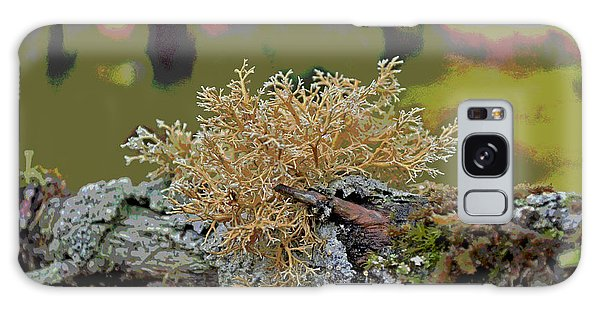 Posterized Antler Lichen Galaxy Case by Cathy Mahnke