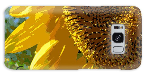 Posterized Sunflower Galaxy Case by Heidi Manly