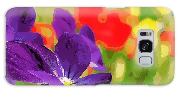 Posterized Viola 2 Galaxy Case by Heidi Manly