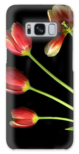 Pot Of Tulips Galaxy Case