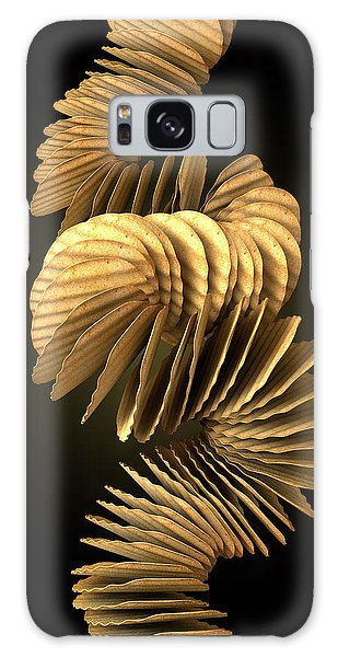 Potato Galaxy Case - Potato Chip Stack Falling by Allan Swart