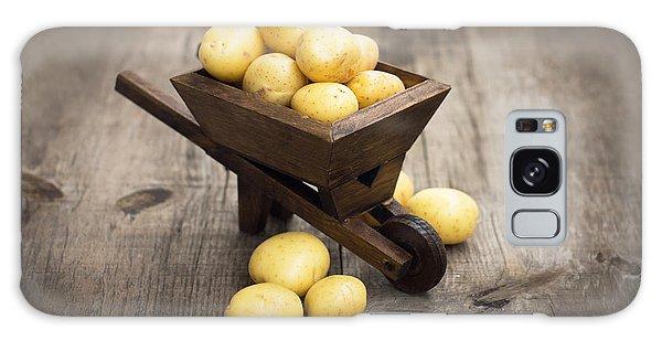 Potato Galaxy Case - Potatos In A Miniature Wheelbarrow by Aged Pixel