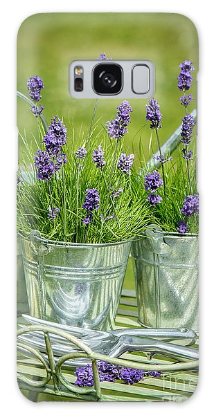 Gardens Galaxy Case - Pots Of Lavender by Amanda Elwell