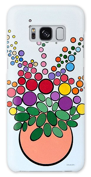 Potted Blooms - Orange Galaxy Case by Thomas Gronowski