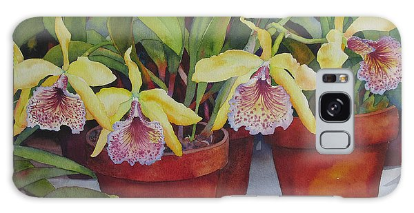 Potted Orchids Galaxy Case