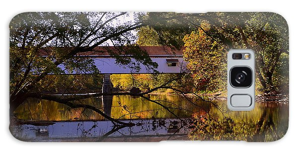 Potter's Covered Bridge Reflection Galaxy Case