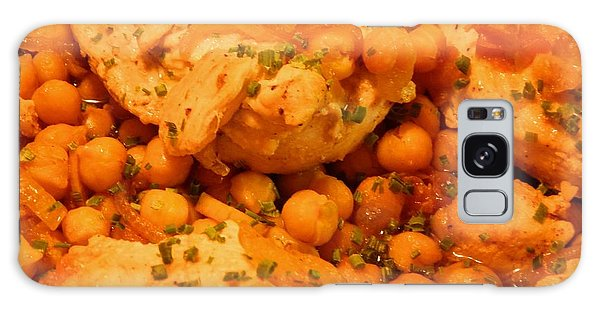 Poulet Aux Pois Chiches Avec Harissa Galaxy Case by Aliceann Carlton