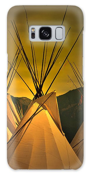 Powwow Camp At Sunrise Galaxy Case
