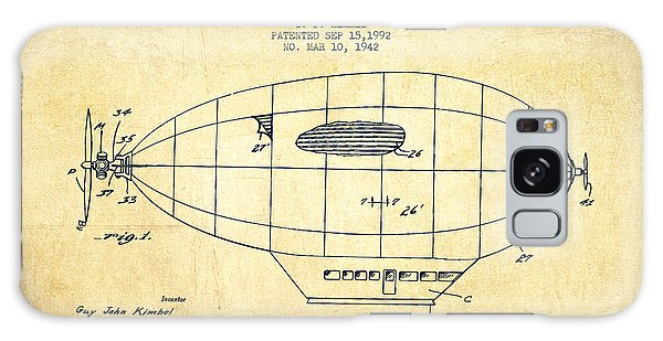 Hot Air Balloons Galaxy Case - Power Driven Balloon Patent-vintage by Aged Pixel