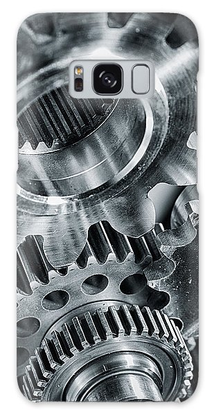 Power Gears And Cogwheels Enginnering And Technology Galaxy Case by Christian Lagereek