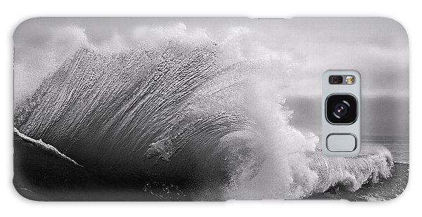 Power In The Wave Bw By Denise Dube Galaxy Case