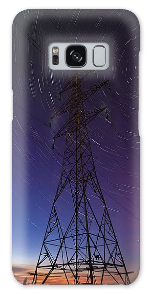 Power Line And Star Trails Galaxy Case