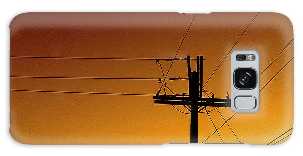 Power Line Sunset Galaxy Case