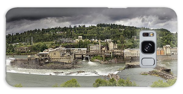 Power Plant At Willamette Falls Lock Galaxy Case