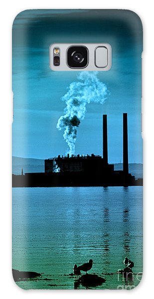 Power Station Silhouette Galaxy Case