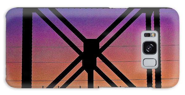 Powerlines And Girders At Sunset Galaxy Case by Robert FERD Frank