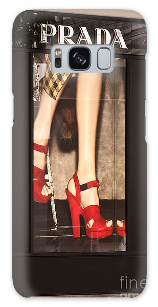 Prada Red Shoes Galaxy Case